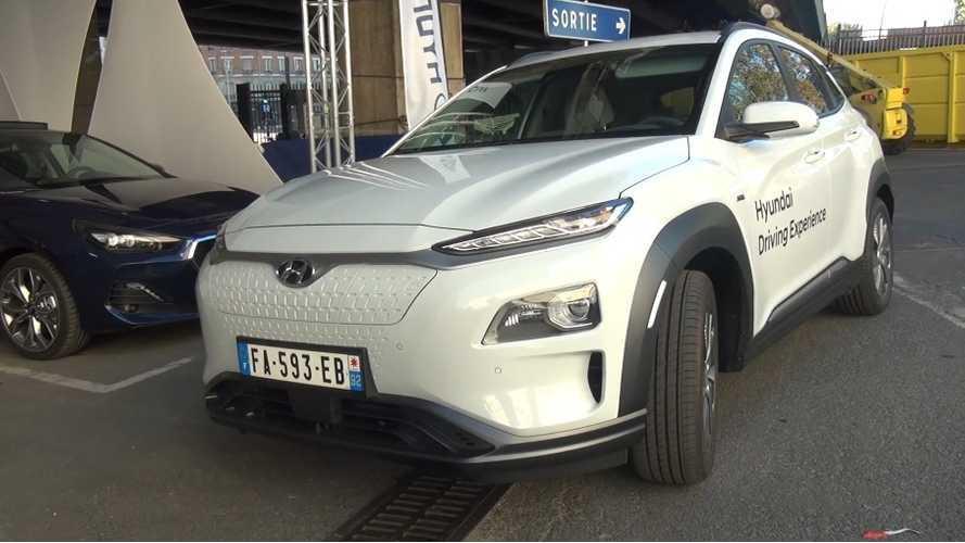 Hyundai Kona Electric Test Drive Review From Paris: Video