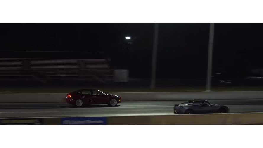 Watch Tesla Model 3 Performance Race Tesla Roadster
