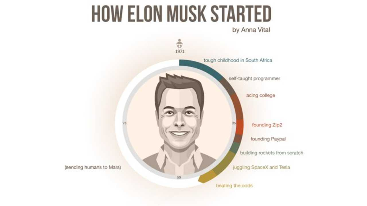 The Journey To Success - Elon Musk Infographic