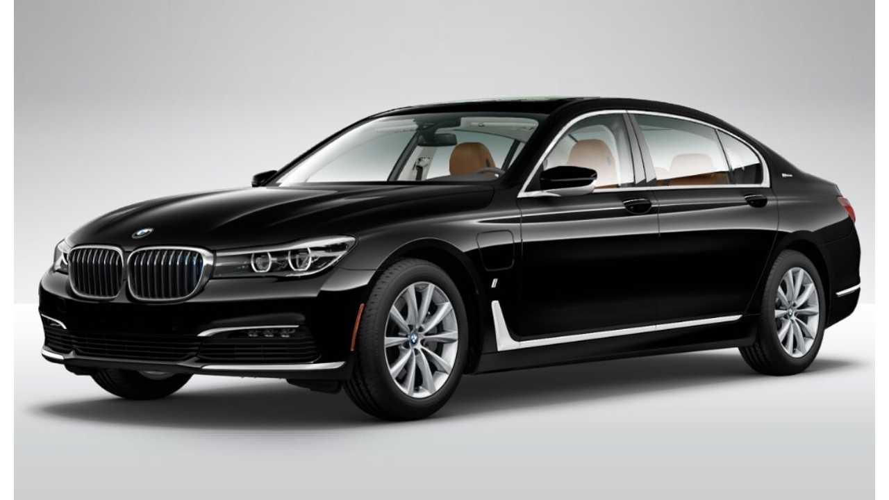 Oh you know the new BMW 740e comes in black!