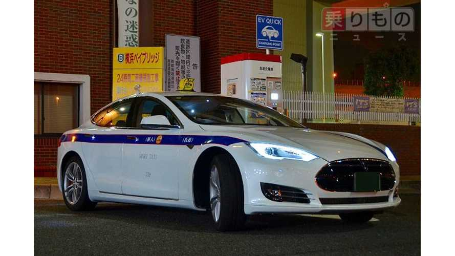 Tesla Model S Taxis Enter Service In Tokyo