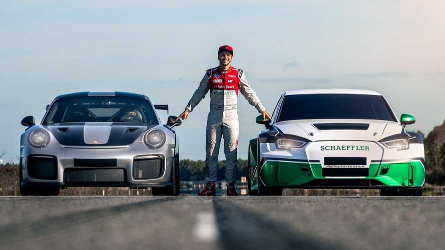 Watch Electric Audi RS3 Drag Race Huracan Performante, 911 GT2 RS