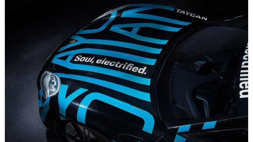 2020 Porsche Taycan Teased Wearing Silly Stripes