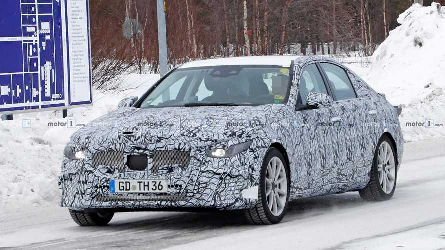 Mercedes C-Class PHEV Spied Hiding Charging Port