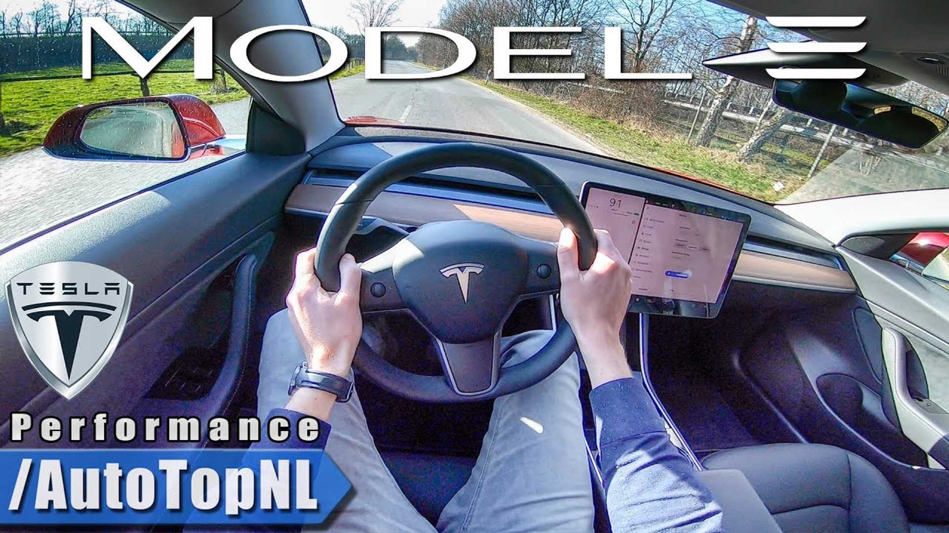 Tesla Model 3 Performance Point Of View Test Drive Video