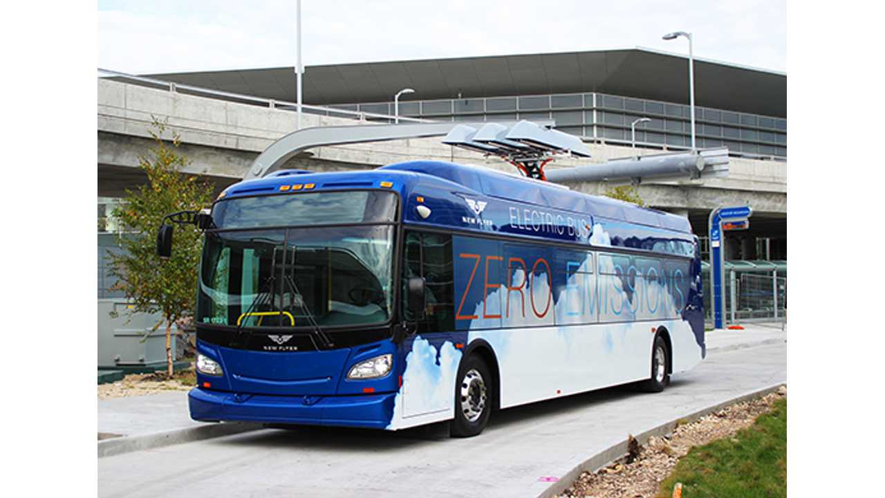 New Flyer Unveils 40-Foot Pure Electric Bus & 60-Foot Fuel-Cell Electric Bus