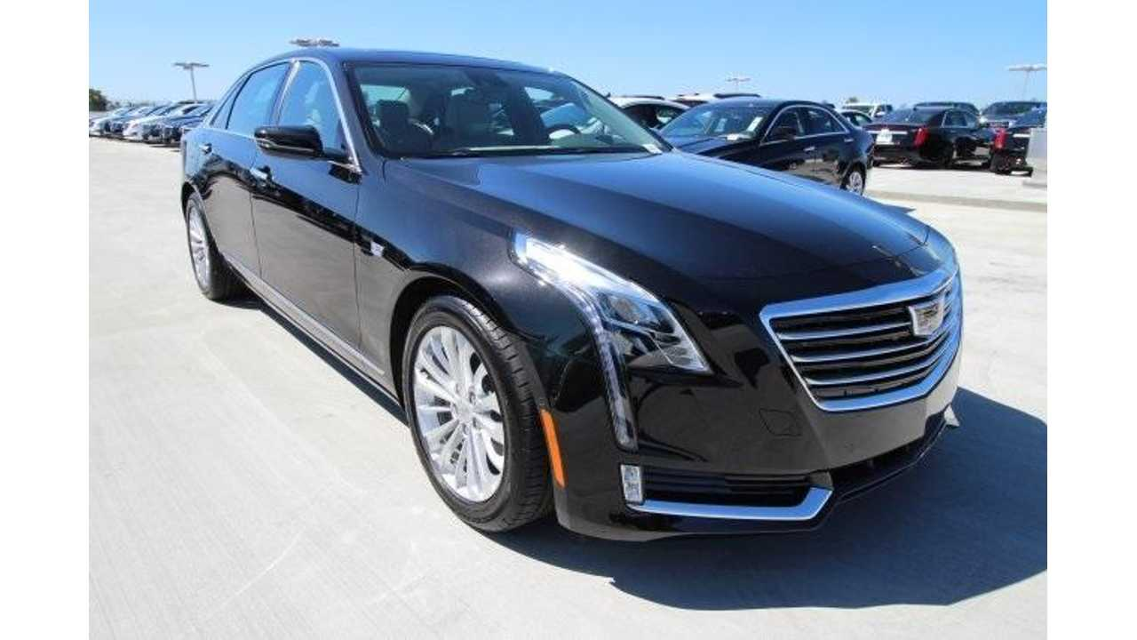 The Cadillac CT6 PHV arrived on dealer lots in very late March (like this example at Suburban Cadillac of Costa Mesa)