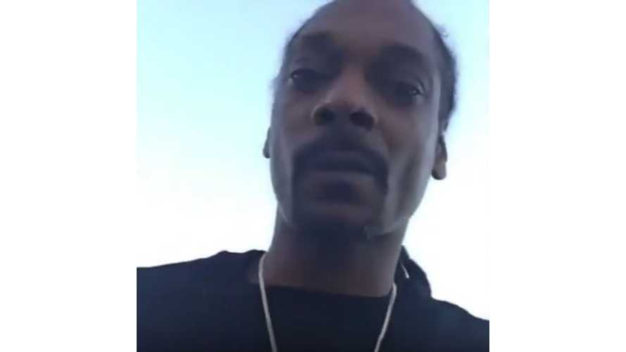 Snoop Dogg Picks Up His Tesla Model X - Video