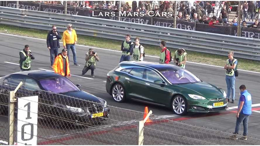 Watch Tesla Model S Shooting Brake In Action