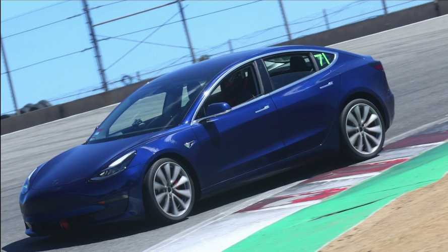 Tesla Model 3 Performance Sets Blazing Lap Time At Laguna Seca