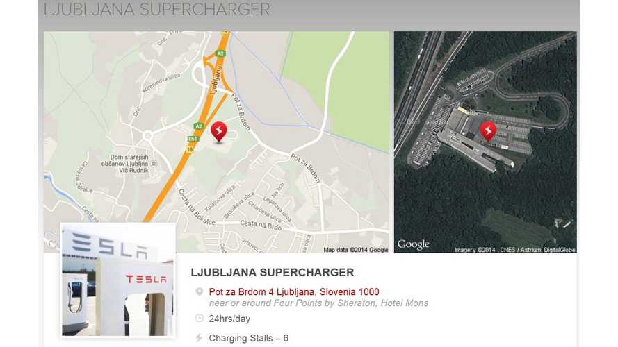 Slovenia Gets Its First Tesla Supercharger