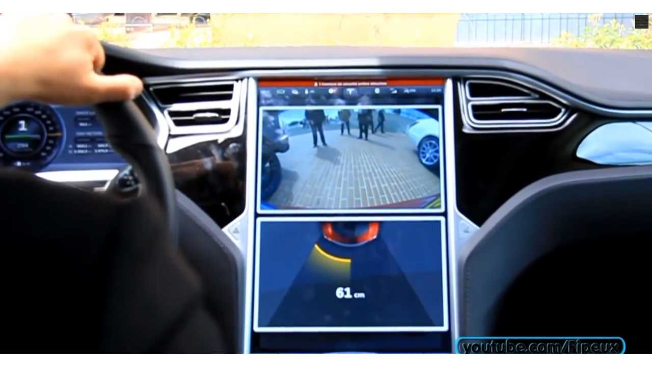 Parking Sensors in action.