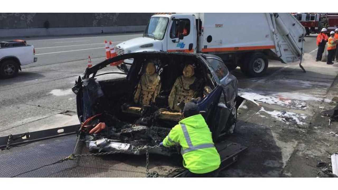 Tesla Battery Reignites 6 Days After Crash
