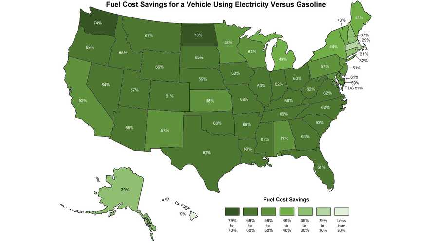 Washington State Notes Greatest Fuel Cost Savings For An EV