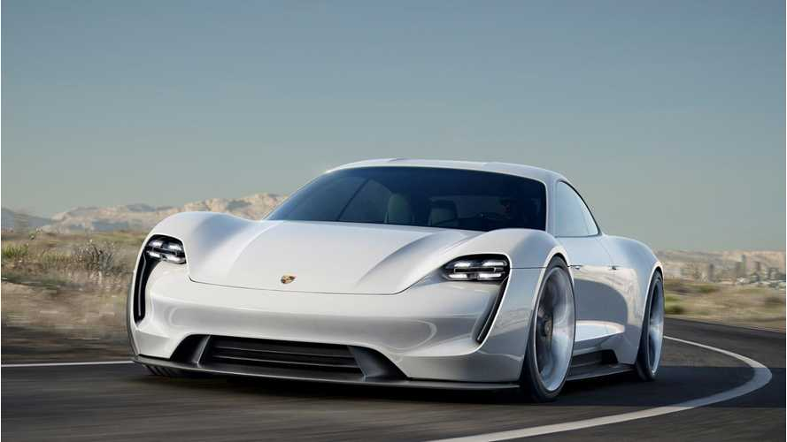 Porsche Mission E Out Testing Disguised As Pajun With Tailpipes