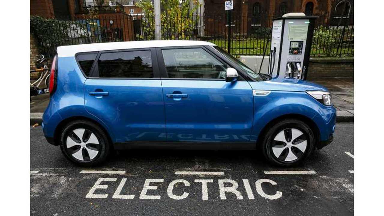 Kia Soul EV charging in UK