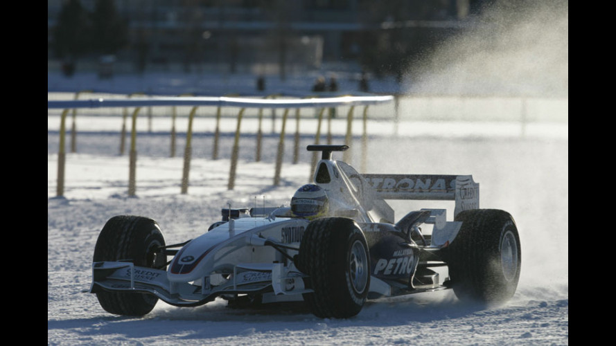 Una Formula Uno... a St. Moritz!