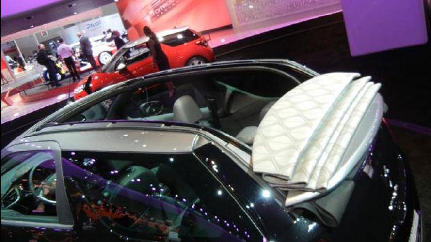 Salone di Parigi: così si apre il tetto della Citroen DS3 Cabrio