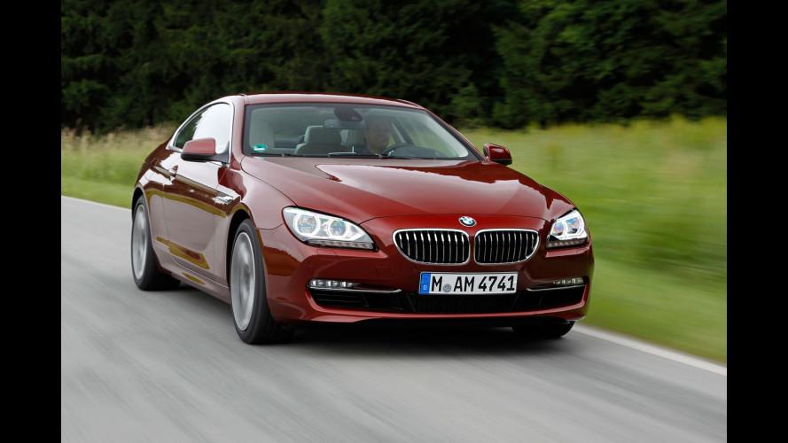 BMW Serie 6 Coupé: anche diesel, 4x4 e M Sport