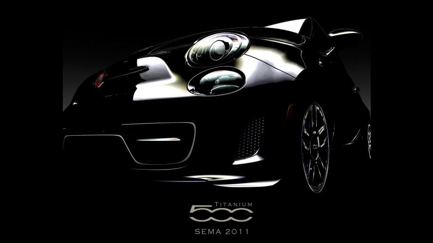 Al SEMA 2011 Fiat 500 Titanium e Carbon