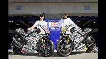 Rossi e Lorenzo con le M1 dedicate alla Fiat 500