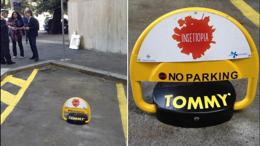 Parcheggio riservato ai disabili: ora lo garantisce Tommy