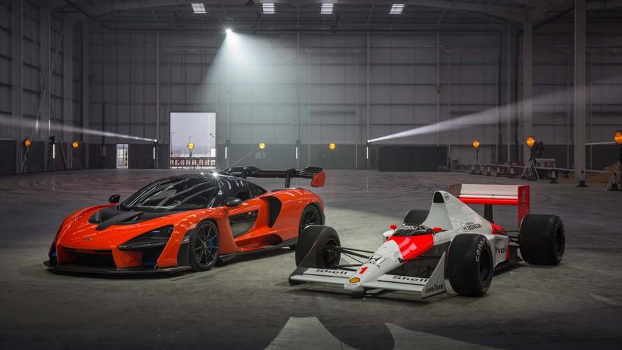 McLaren Senna and Ayrton Senna F1 car