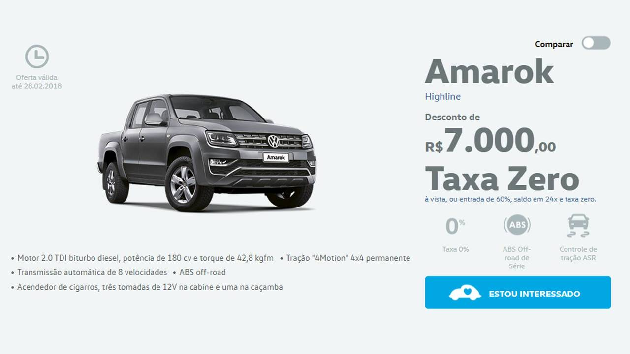Taxa Zero - Volkswagen