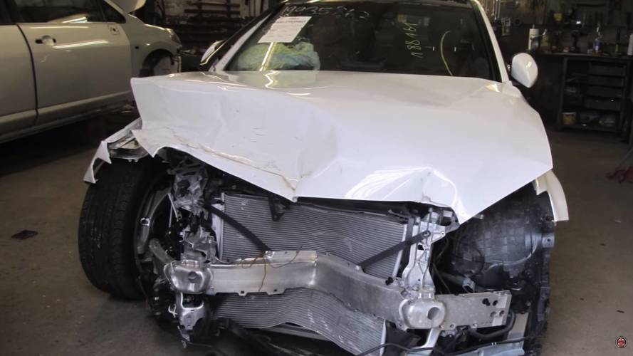 Wrecked C-Class Lives To See Another Day Thanks To Repairman