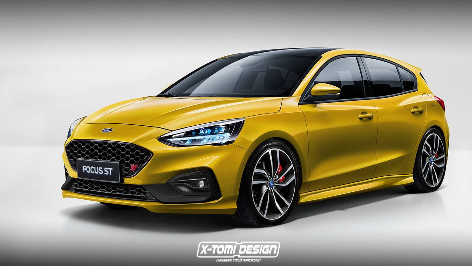 Of course someone has already rendered the new ford focus st rs