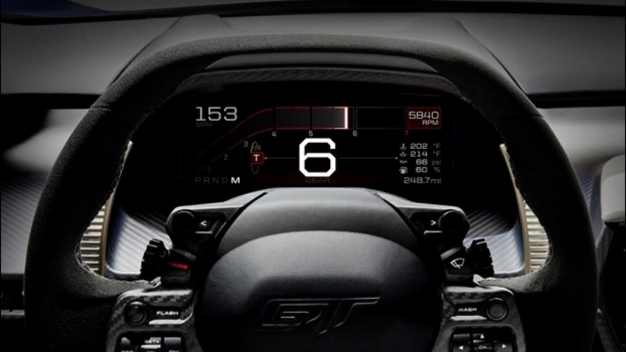 [Copertina] - Ford GT, il quadro strumenti digitale si fa in 5 [VIDEO]