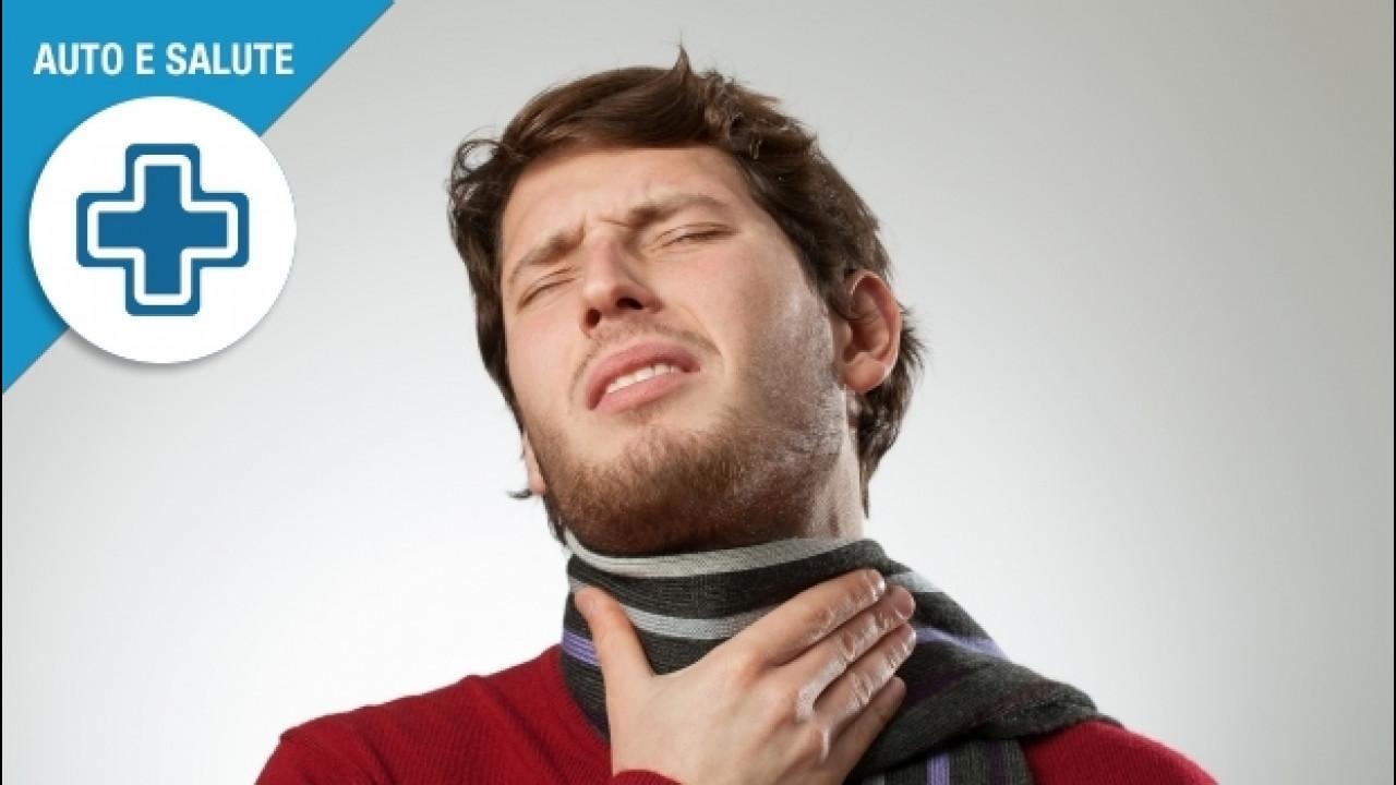 [Copertina] - Mal di gola in auto, cause, prevenzione e rimedi