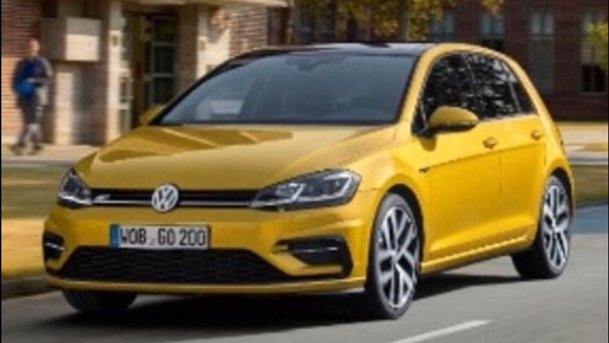 Volkswagen Golf restyling, le prime foto sono in rete