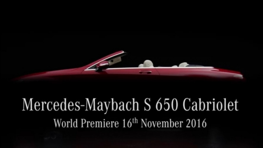 Mercedes-Maybach S650 Cabriolet, il teaser [VIDEO]