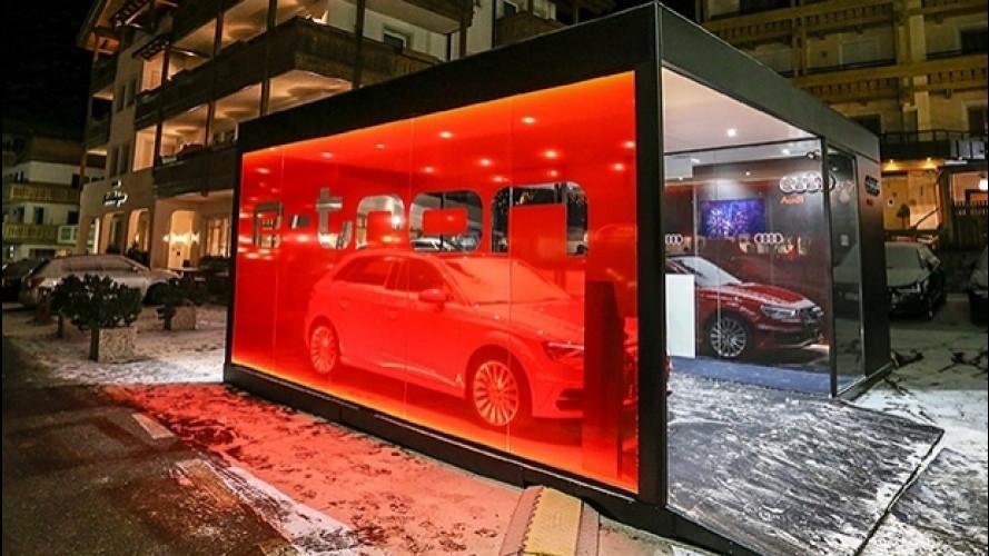 Audi installa colonnine di ricarica elettrica in Alta Badia