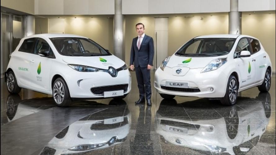 Renault-Nissan, è record nella vendita di veicoli elettrici