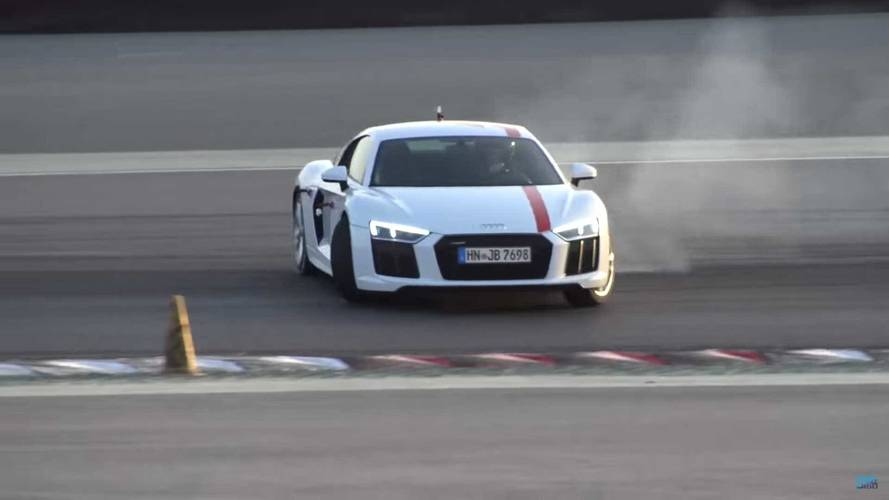 See This Audi R8 RWS Enjoy An Opposite-Lock Dance In Dubai