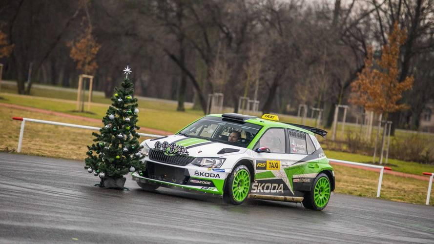Skoda Fabia R5 Rally Car Takes A Second Job As A Taxi