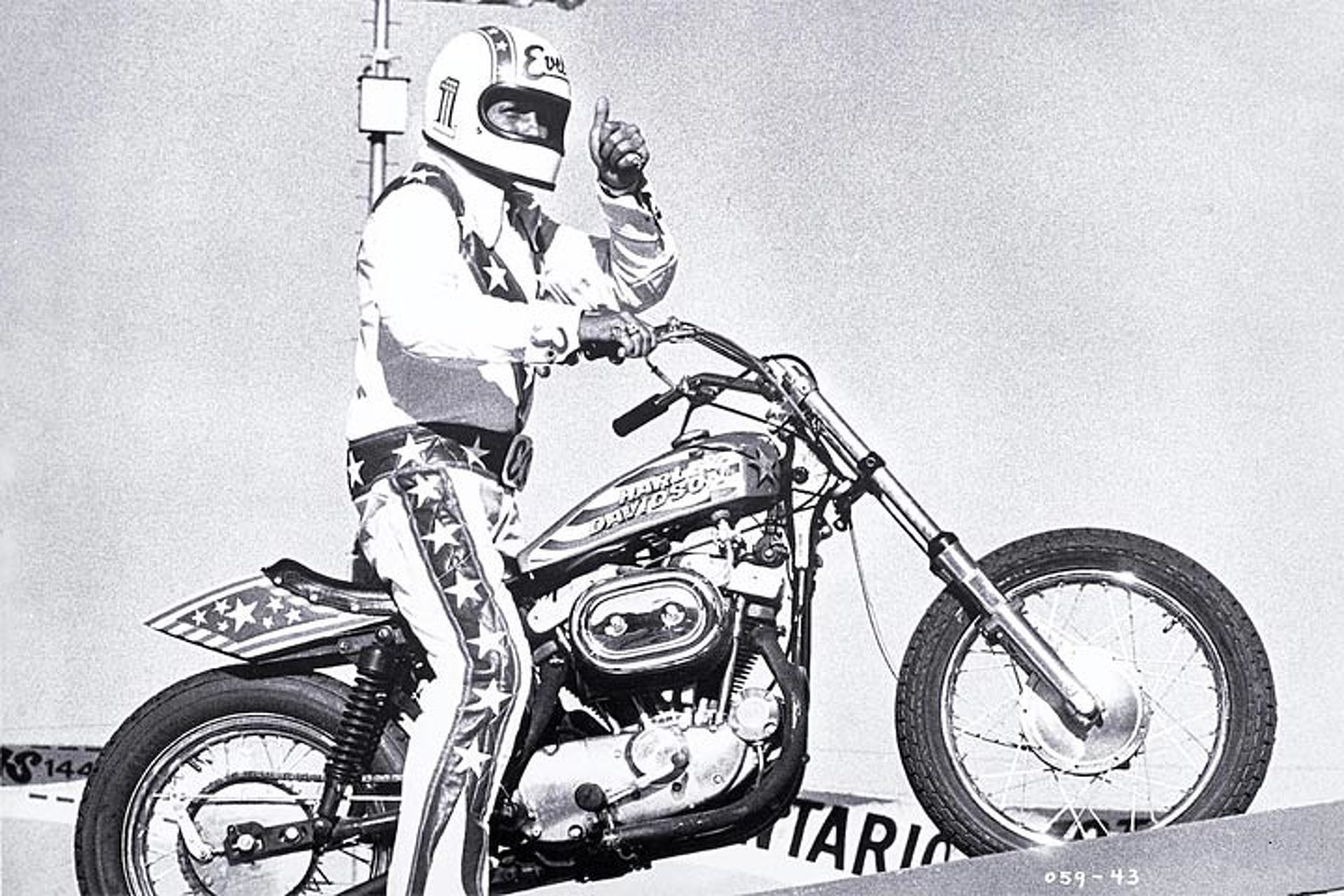 Evel Knievel Harley Davidson Chopper Photograph By Frank: Evel Knievel Motorcycle Heading To Auction—Just Don't Jump