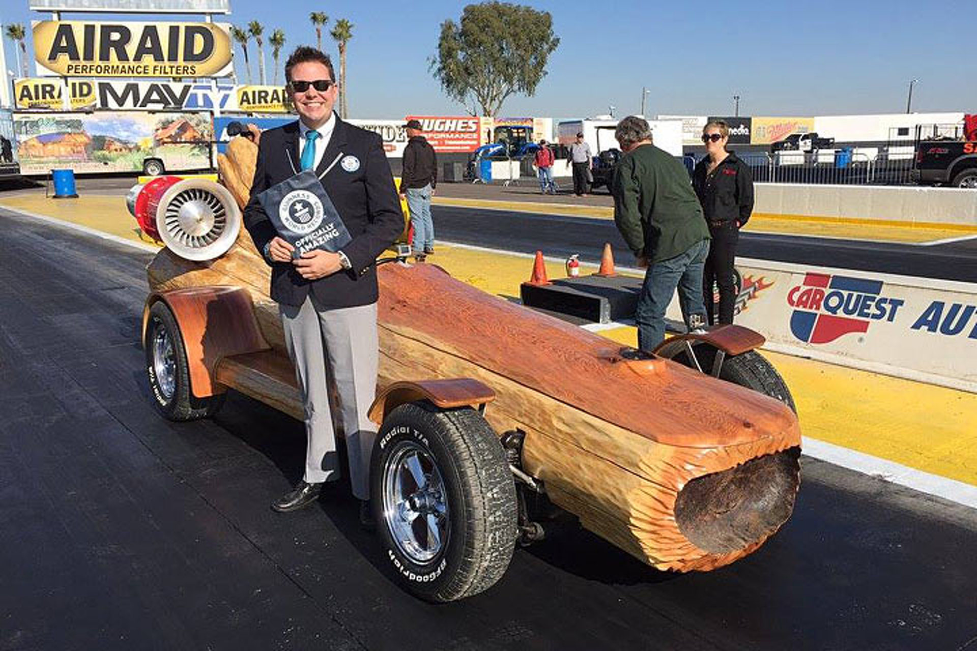 """""""Timber Kings"""" Set the Guinness World Record for the Fastest Log Car"""