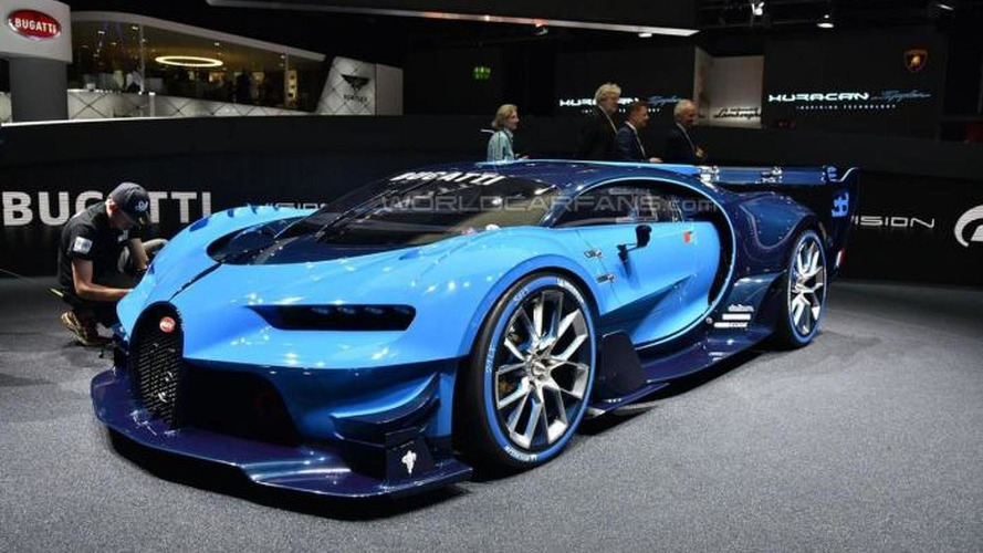 Bugatti Vision Gran Turismo concept looks mean in live shots from Frankfurt