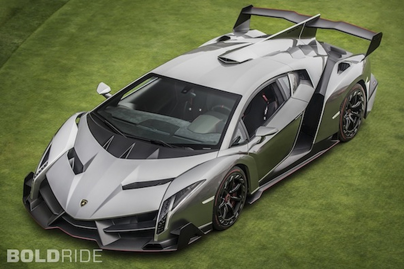 Wheels Wallpaper: Lamborghini Veneno on the Lawn