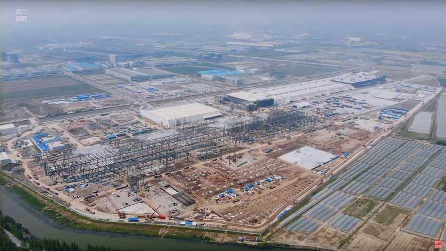 Tesla Giga Shanghai Construction Progress April 15, 2020: Video