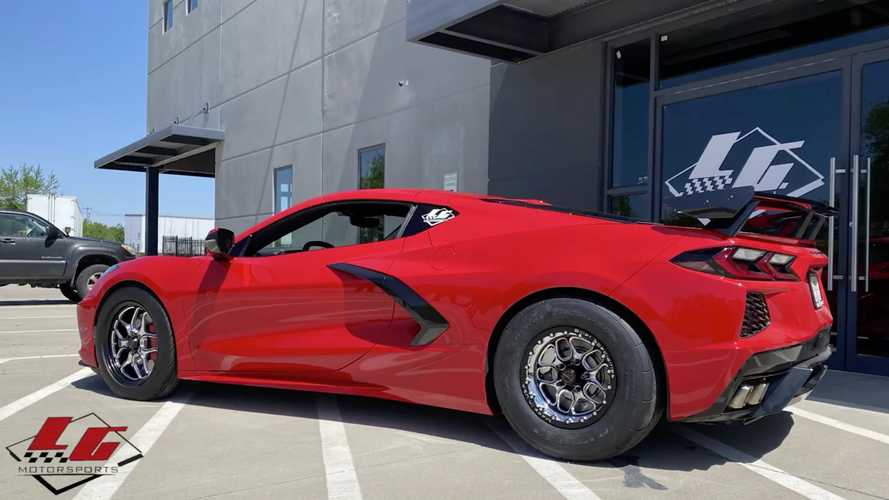 Corvette C8 'Drag Pack' Conversion On 15-Inch Wheels Is A Beast
