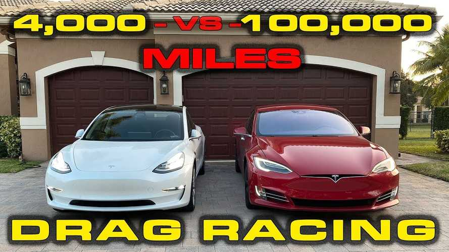 Does High Mileage Impact Tesla Performance? 100K Model S Vs New Model 3