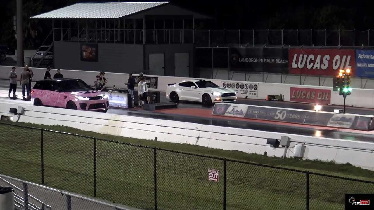 Mustang Vs Range Rover Sport SVR Drag Race