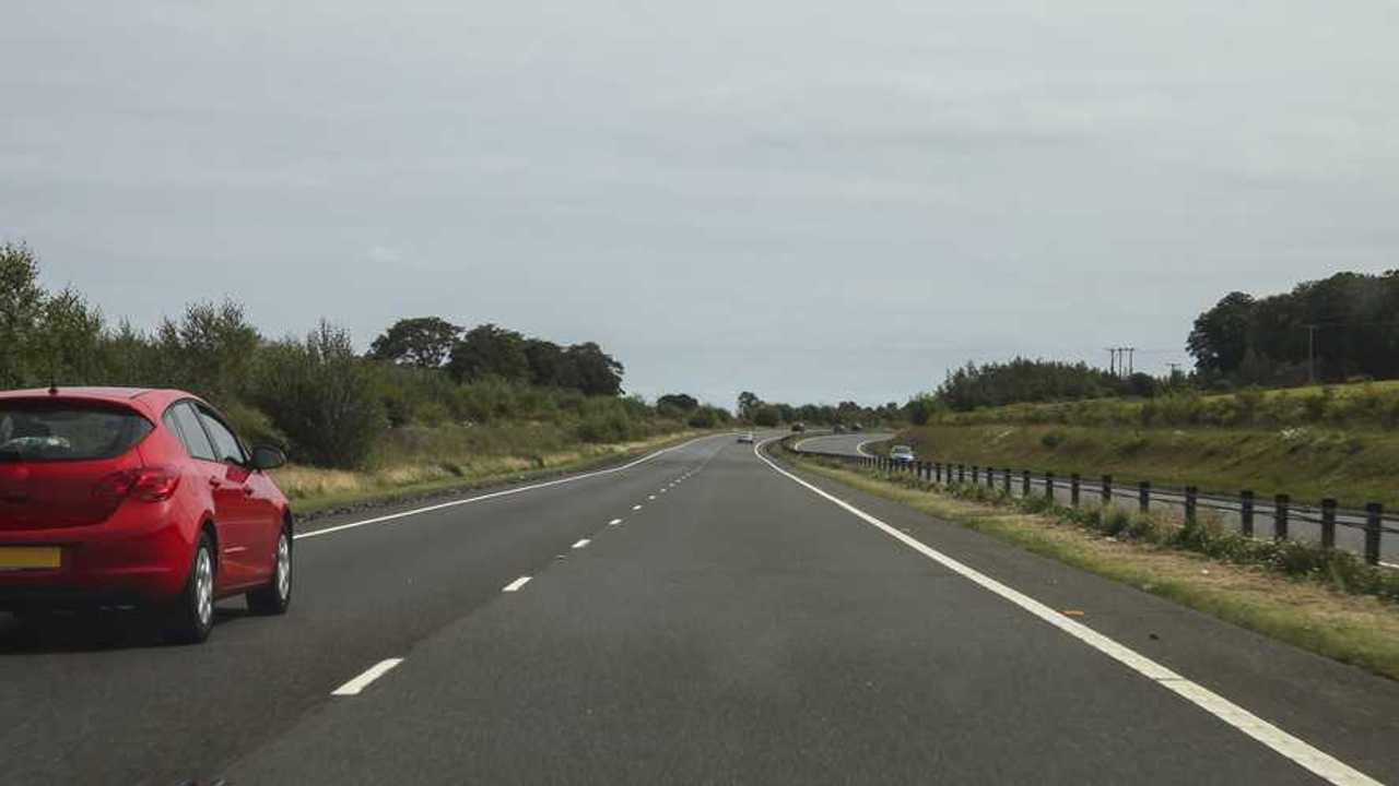 Car driving on quiet motorway