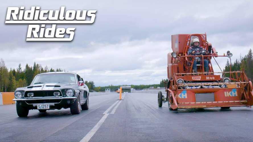 Videó: Mihez kezd a Shelby Mustang GT350 a világ leggyorsabb kombájnja ellen?