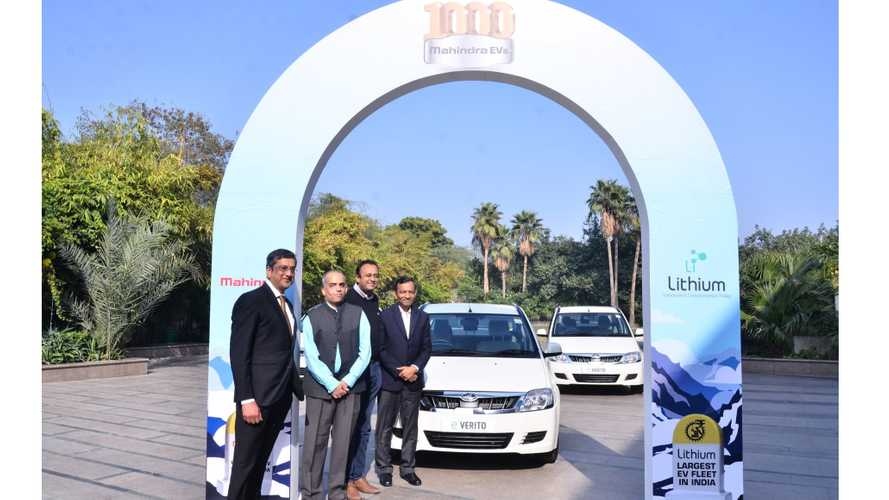 Mahindra Supplied 1,000 EVs To Lithium Urban Technologies In India