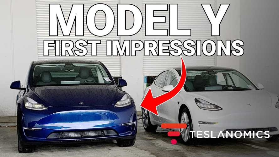 Check Out The Very First Tesla Model Y: First Impressions Video